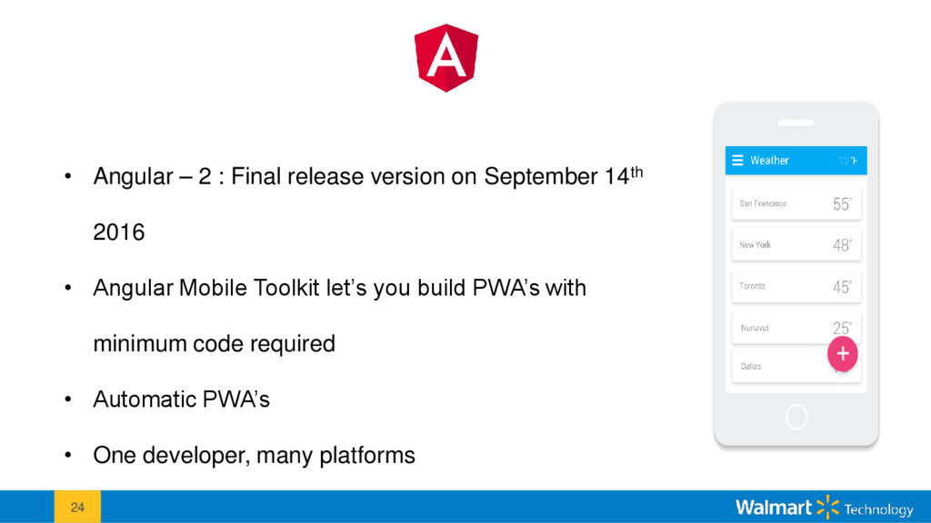 24 • Angular – 2 : Final release version on Sep...