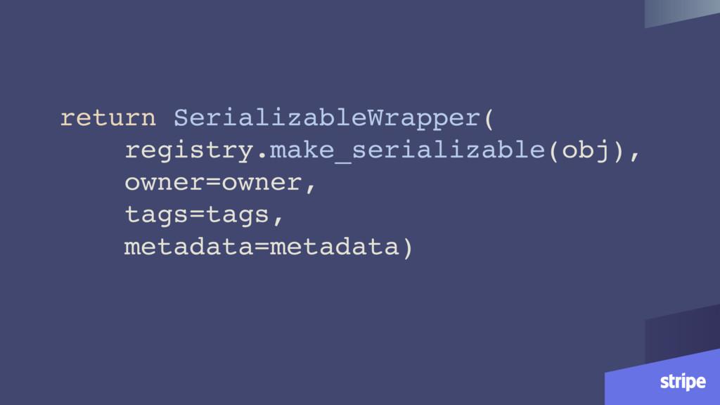 return SerializableWrapper( registry.make_seria...
