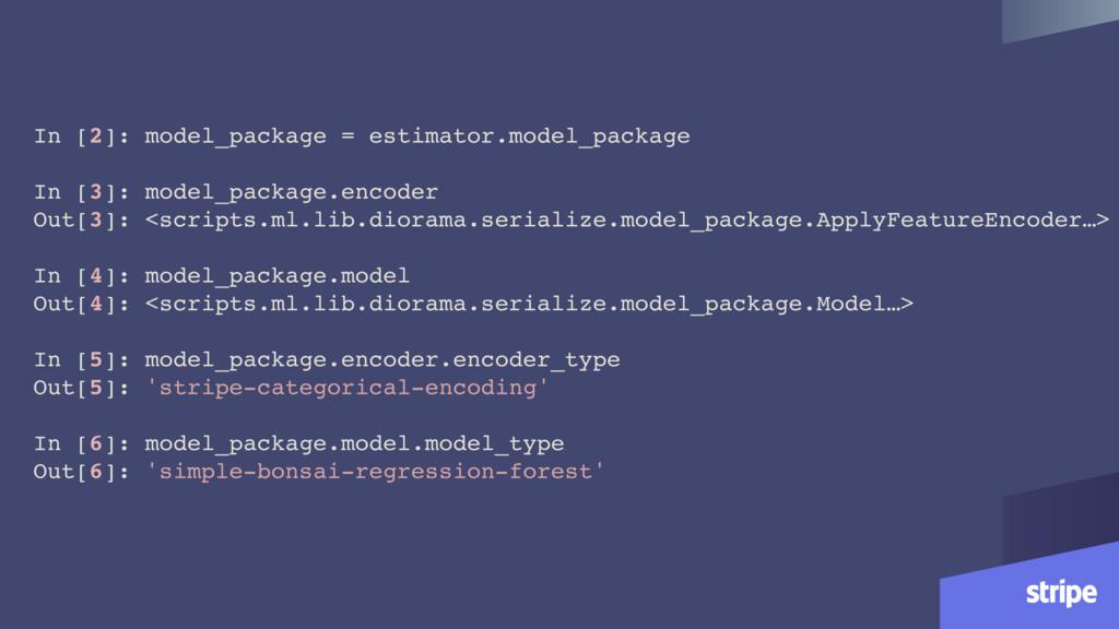 In [2]: model_package = estimator.model_package...
