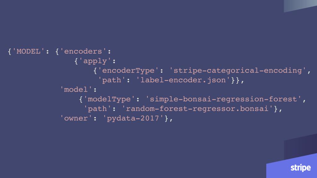 {'MODEL': {'encoders': {'apply': {'encoderType'...