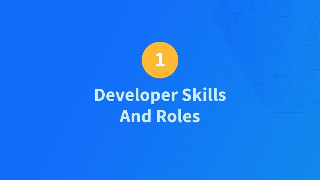 1 Developer Skills And Roles