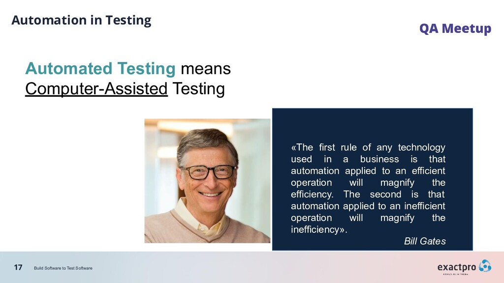 17 Build Software to Test Software Automation i...