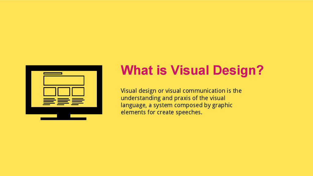 Visual design or visual communication is the un...