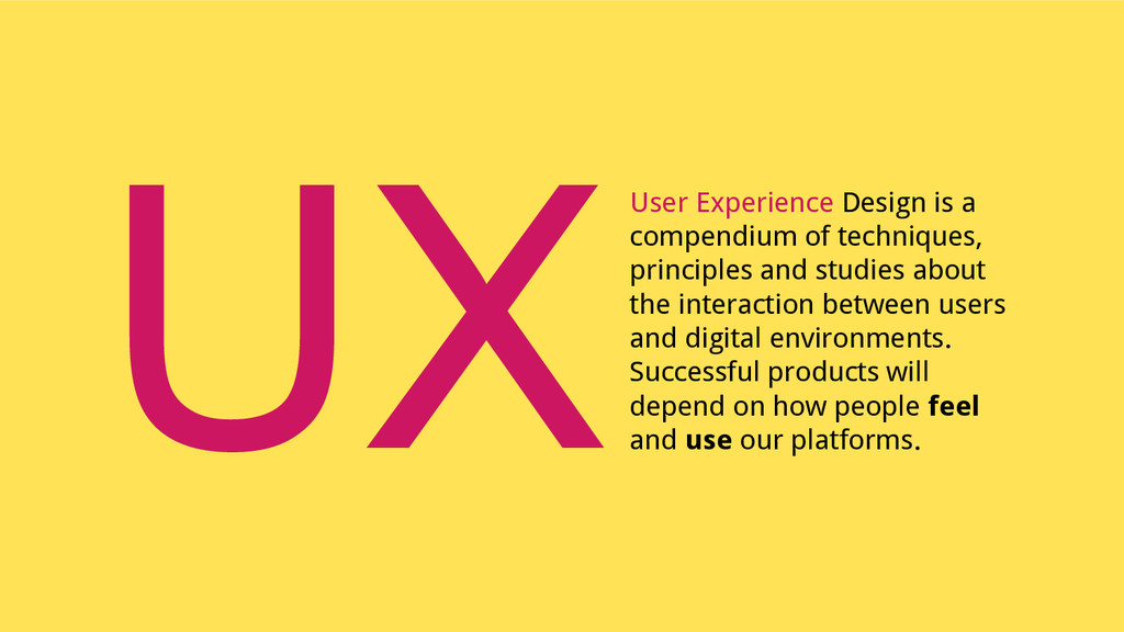 User Experience Design is a compendium of techn...