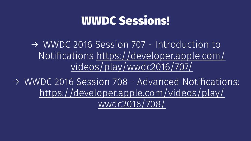 WWDC Sessions! → WWDC 2016 Session 707 - Introd...