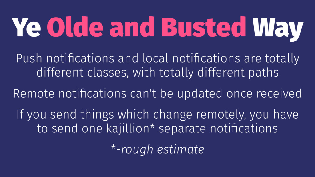 Ye Olde and Busted Way Push notifications and lo...