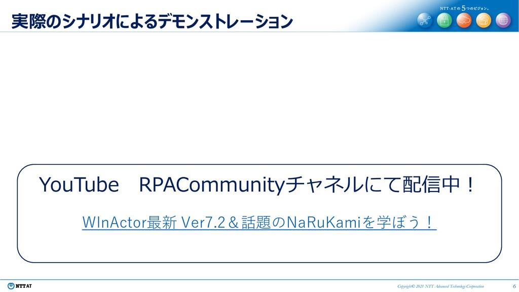 6 Copyright© 2021 NTT Advanced Technology Corpo...