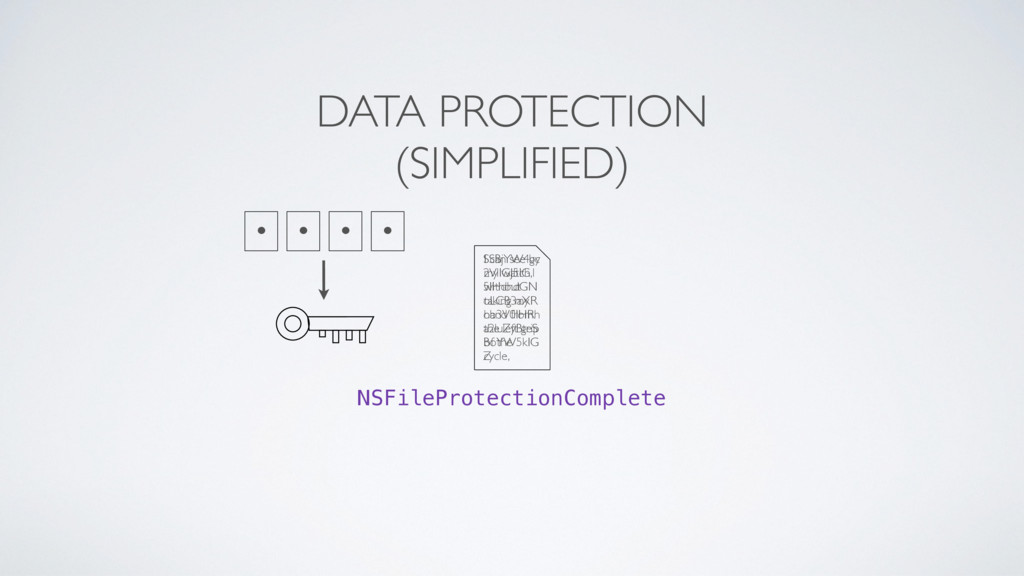 NSFileProtectionComplete • • • • I can see by m...