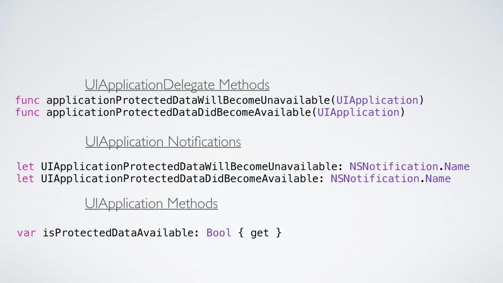 func applicationProtectedDataWillBecomeUnavaila...