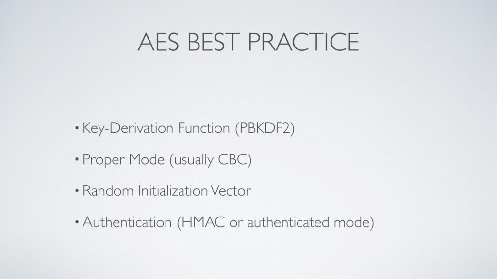 AES BEST PRACTICE • Key-Derivation Function (PB...