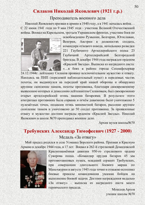 Силаков Николай Яковлевич (1921 г.р.) Преподава...