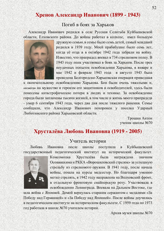 Хренов Александр Иванович (1899 - 1943) Погиб в...