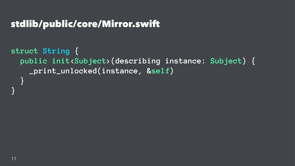 stdlib/public/core/Mirror.swift struct String {...