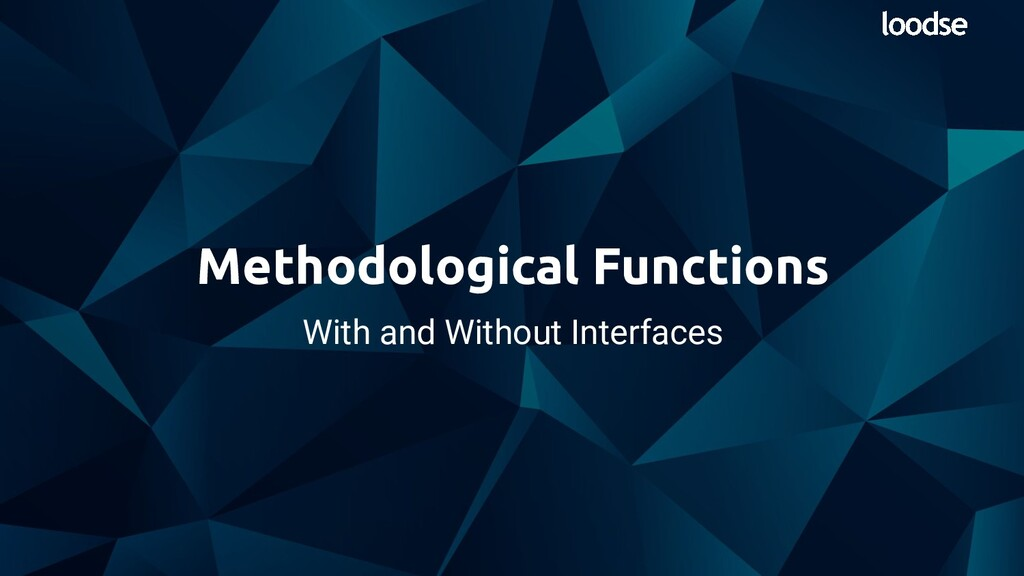 With and Without Interfaces Methodological Func...