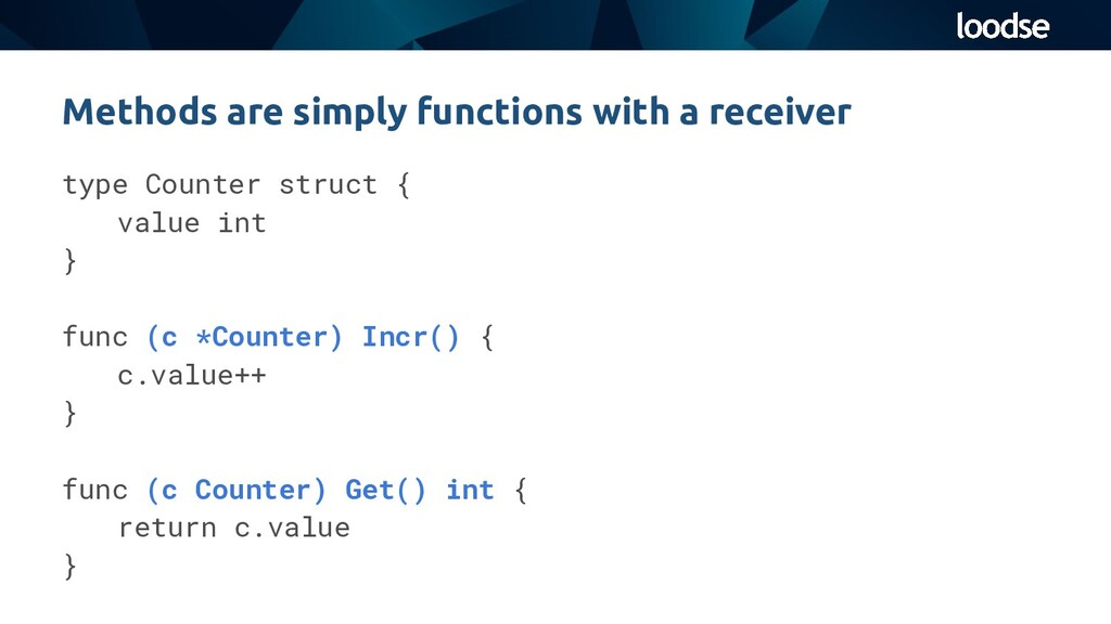 type Counter struct { value int } func (c *Coun...