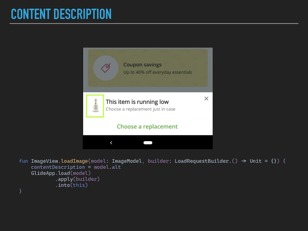 CONTENT DESCRIPTION fun ImageView.loadImage(mod...