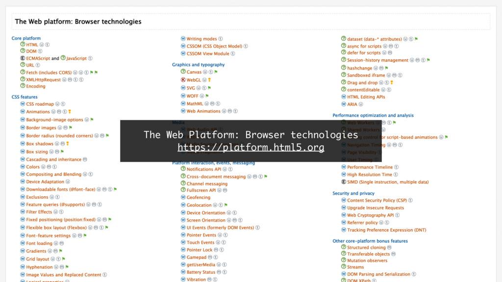 The Web Platform: Browser technologies https://...
