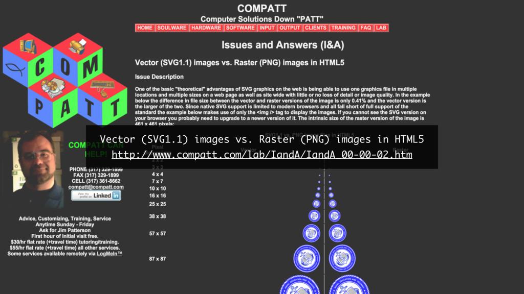 Vector (SVG1.1) images vs. Raster (PNG) images ...