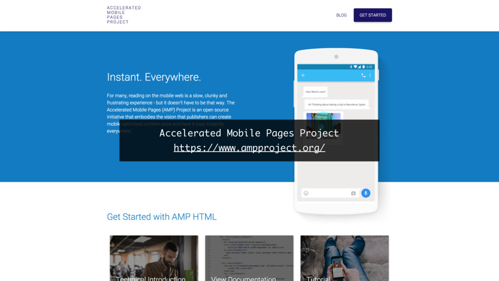 Accelerated Mobile Pages Project https://www.am...