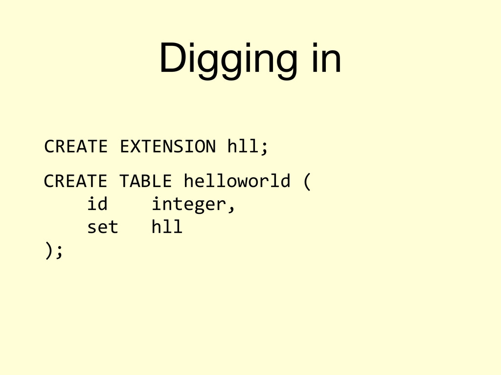 Digging in CREATE	