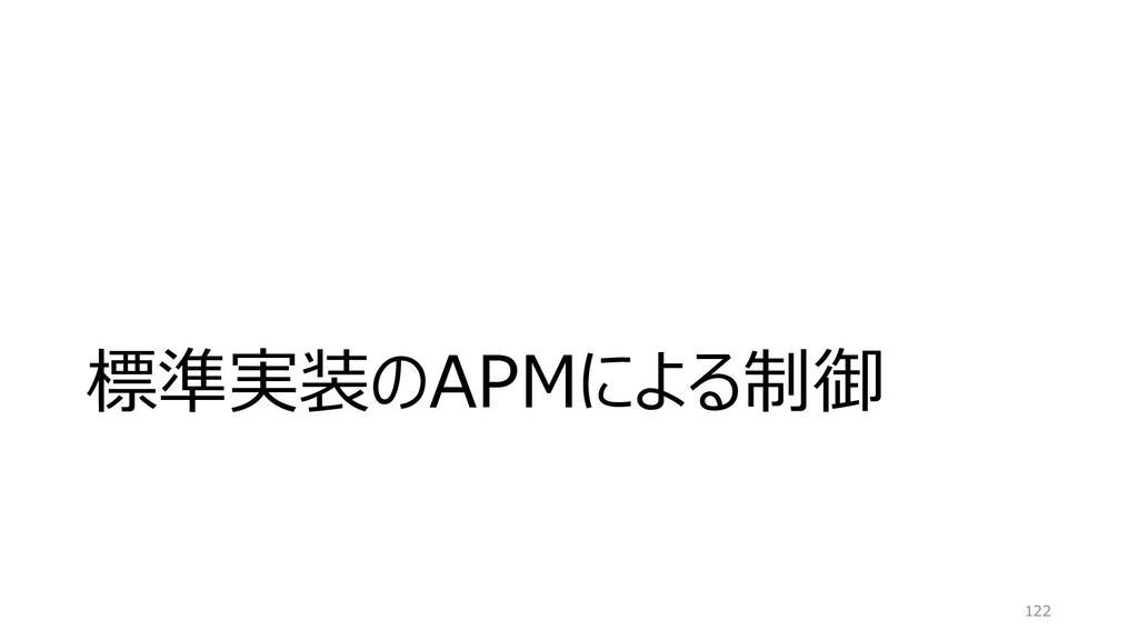 標準実装のAPMによる制御 122