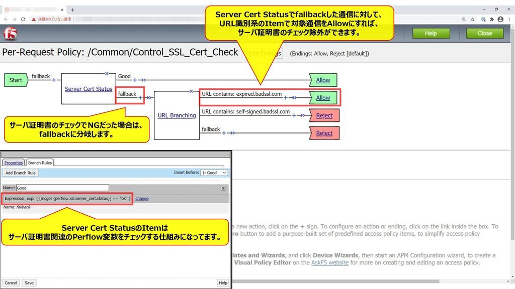 166 Server Cert Statusでfallbackした通信に対して、 URL識別系...