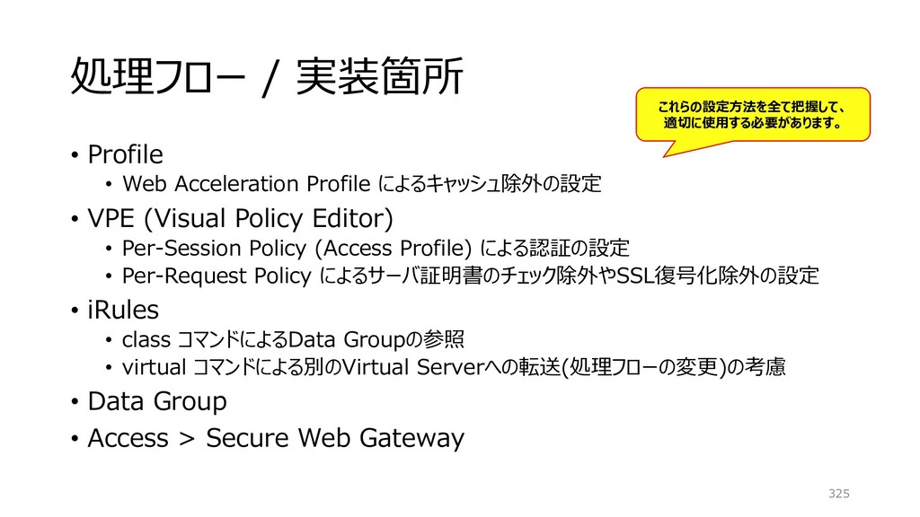 処理フロー / 実装箇所 • Profile • Web Acceleration Profi...