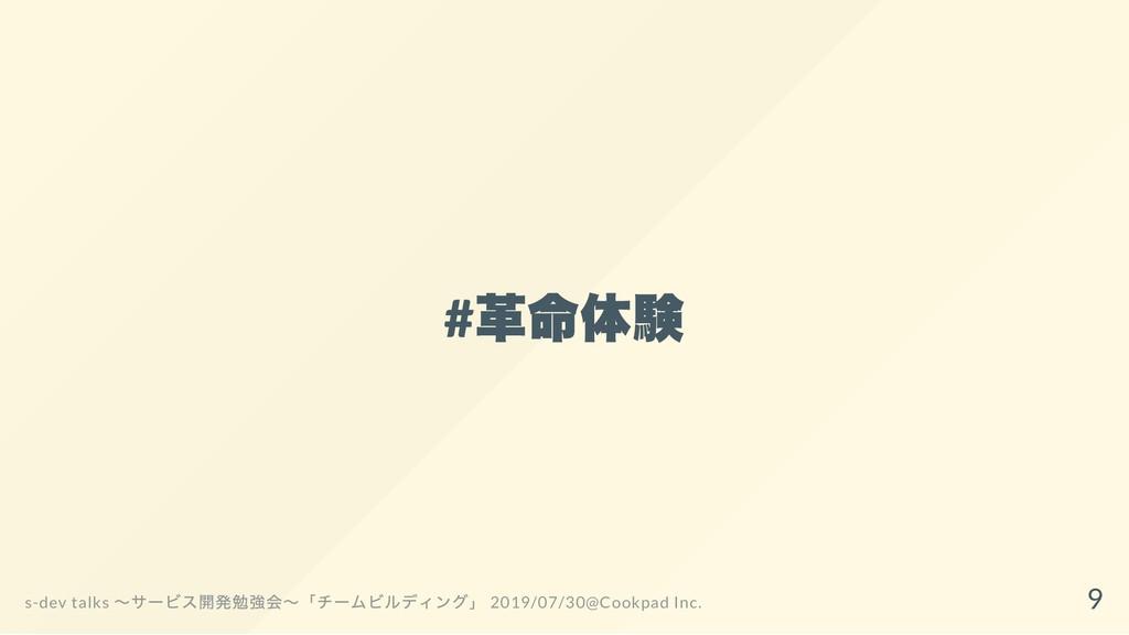# 革命体験 s-dev talks ~サービス開発勉強会~「チームビルディング」 2019/...