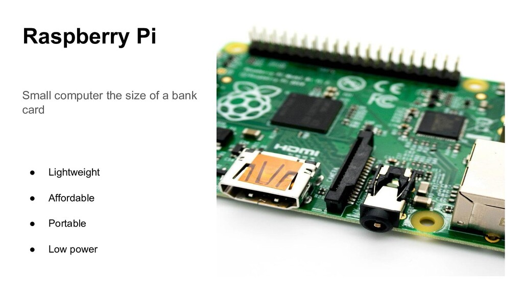 Raspberry Pi Small computer the size of a bank ...