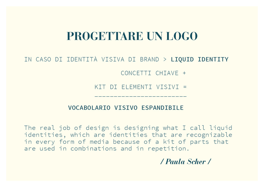 PROGETTARE UN LOGO / Paula Scher / The real job...