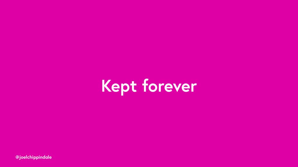 @joelchippindale Kept forever