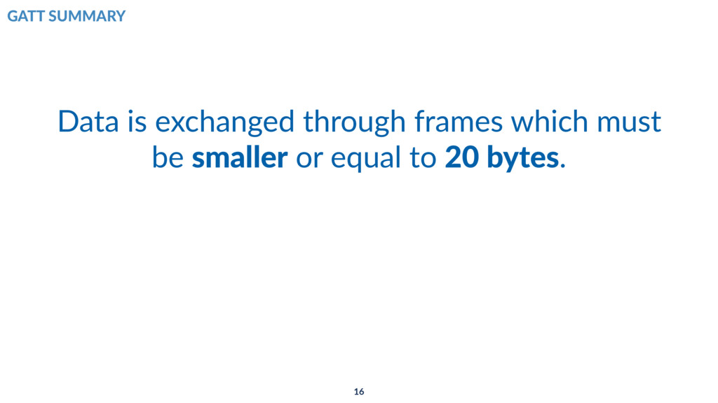 Data is exchanged through frames which must be ...