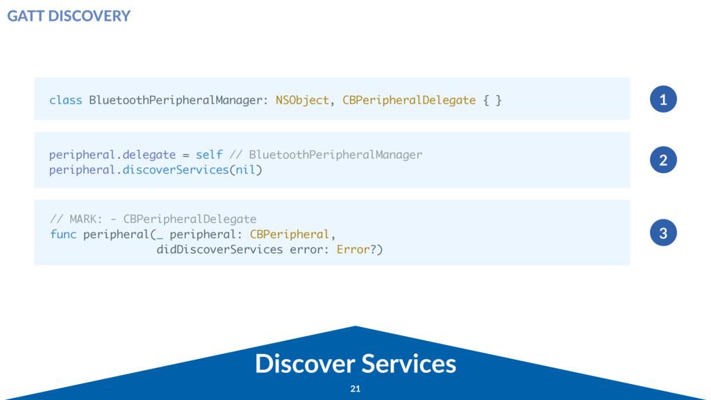Discover Services class BluetoothPeripheralMana...