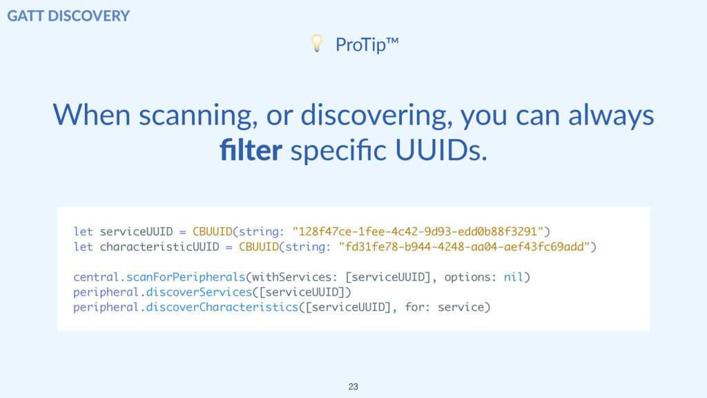 When scanning, or discovering, you can always fi...