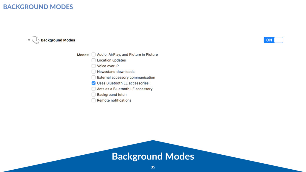 Background Modes 35 BACKGROUND MODES