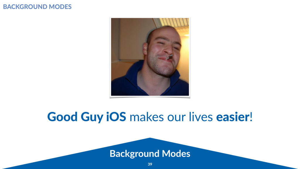 Background Modes 39 Good Guy iOS makes our live...