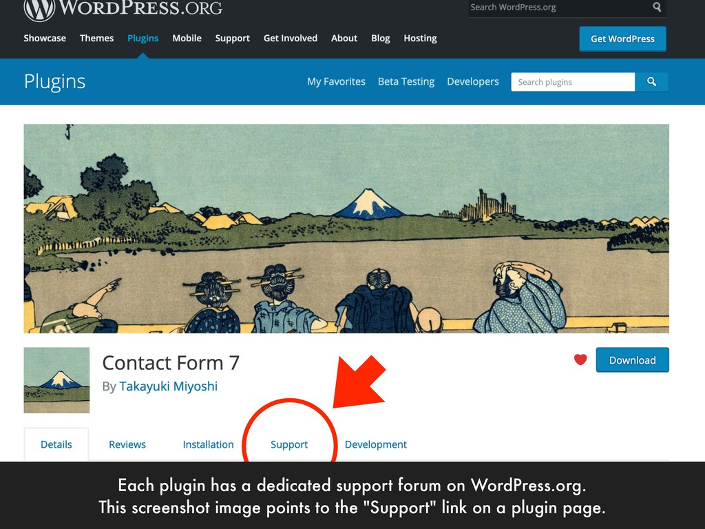 Each plugin has a dedicated support forum on Wo...