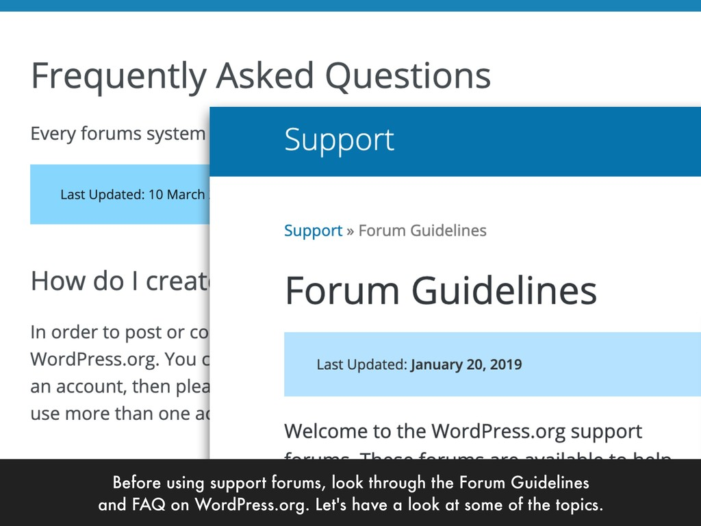 Before using support forums, look through the F...