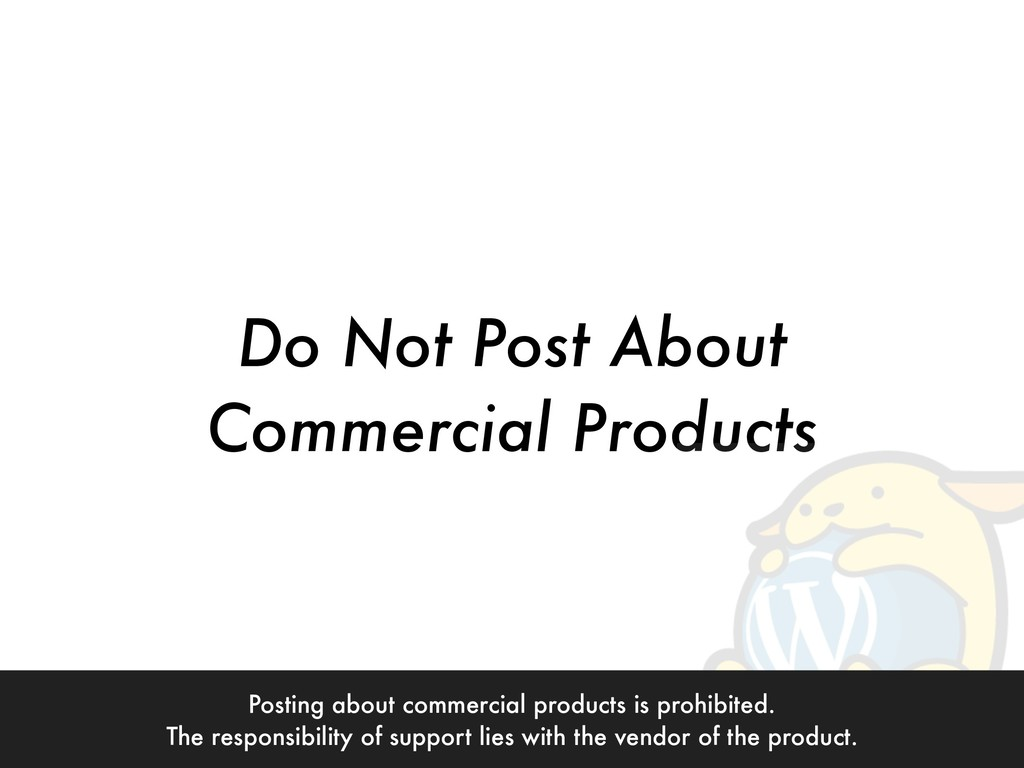 Do Not Post About  Commercial Products Posting...