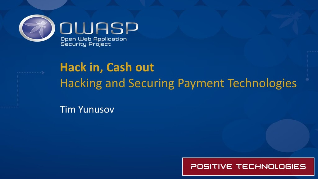 Hack in, Cash out Hacking and Securing Payment ...