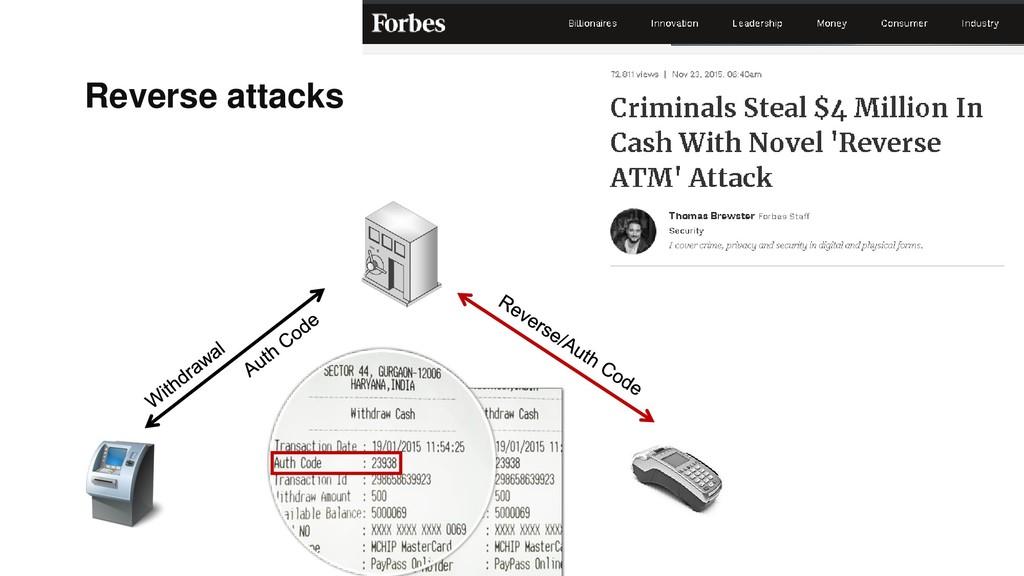 Reverse attacks
