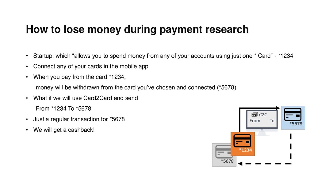 How to lose money during payment research • Sta...