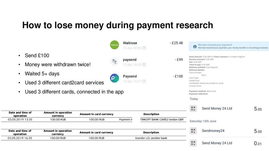 How to lose money during payment research • Sen...