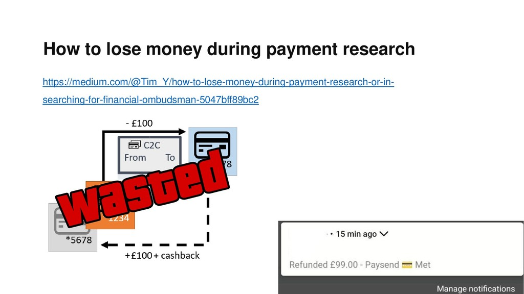 How to lose money during payment research https...