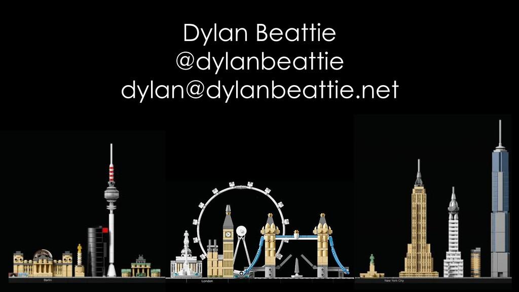 Dylan Beattie @dylanbeattie dylan@dylanbeattie....