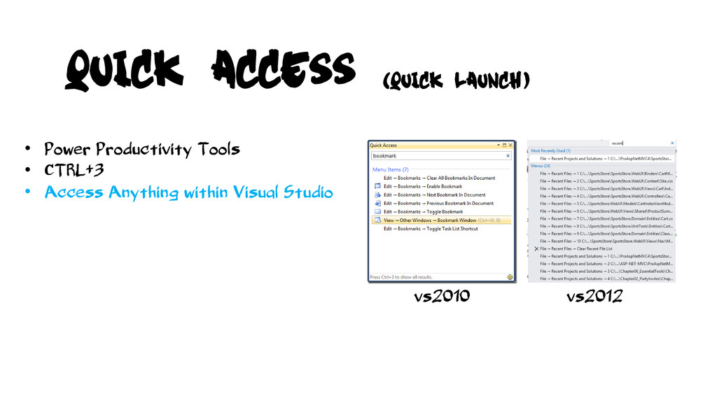 vs2010 vs2012 • Power Productivity Tools • CTRL...