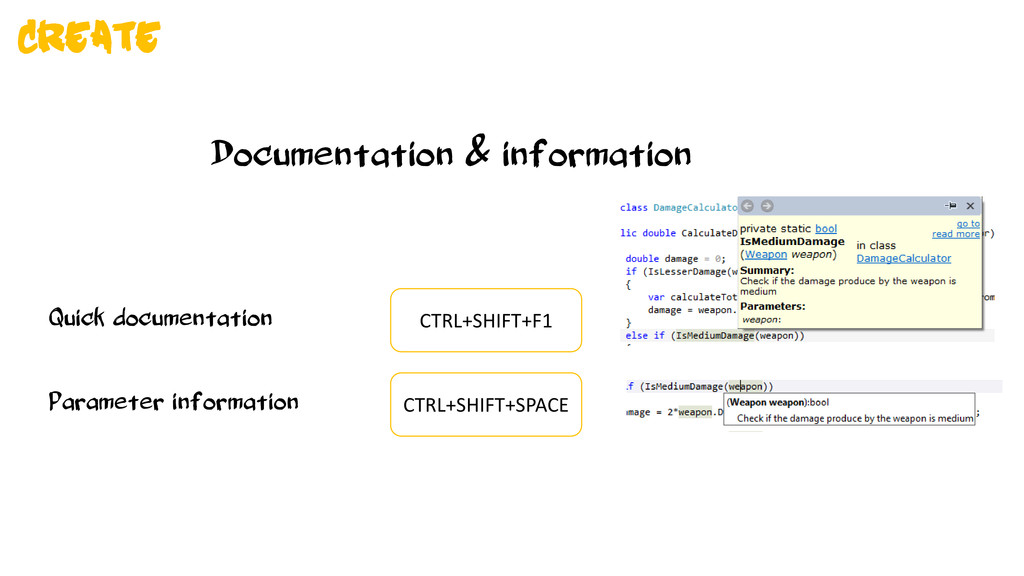 Documentation & information Quick documentation...
