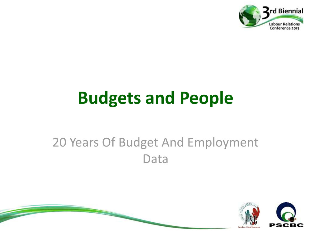 Budgets and People 20 Years Of Budget And Emplo...