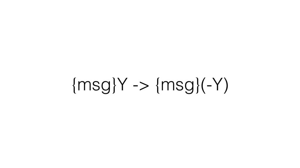 {msg}Y -> {msg}(-Y)