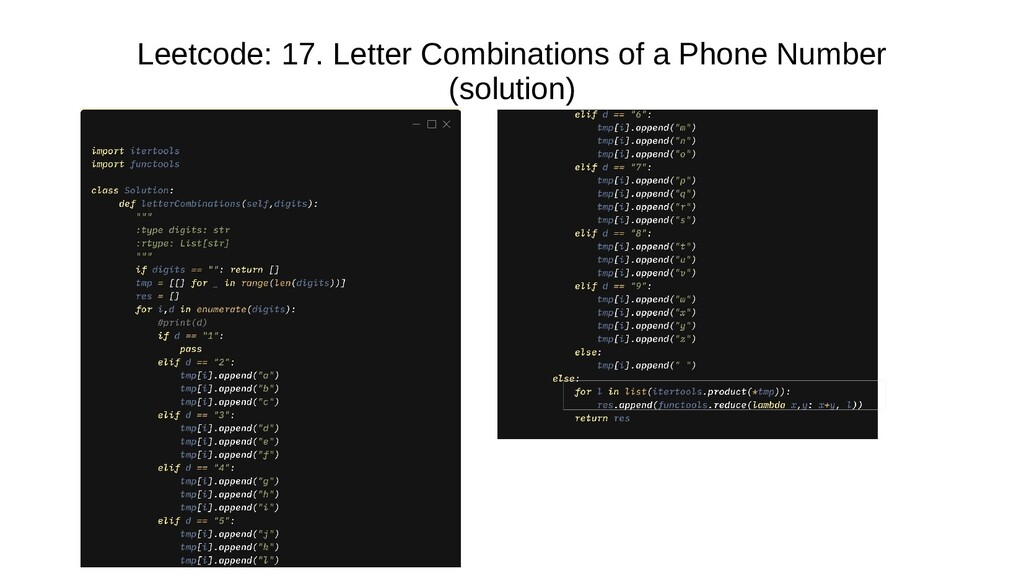 Leetcode: collect17. collectLetter collectCombi...